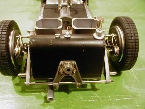Pocher K73 Alfa Romeo gas tank detail
