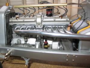 Pocher K71 Alfa Romeo engine installed