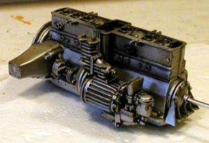 Pocher K71 Alfa Romeo engine, right side