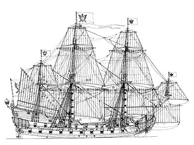 ... 18th Century German Frigate 1/47 scale wood ship model kit plans