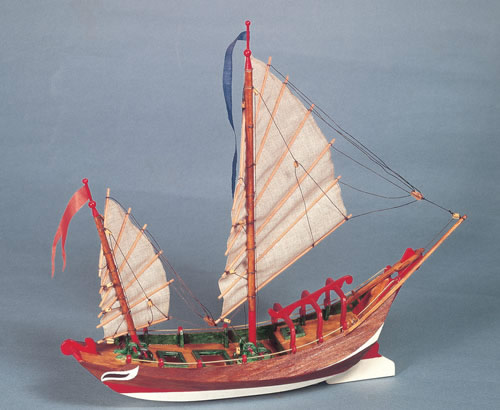 The Modeller's Workshop » Amati 1561 Sampang Chinese Fishing Boat Junior Collection scale model ...