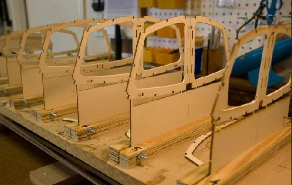 Side view of Star Class 45 frames