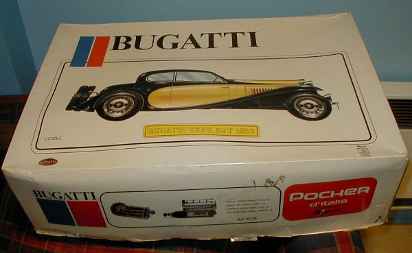 the modeller's workshop » pocher k76 1933 bugatti type 50t 1/8