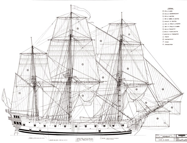 ... Indiaman Company Armed Merchant Ship 1/75 scale wood ship kit plans